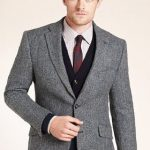 M&S | Sartorial Pure Wool Herringbone Worsted Jacket | £99