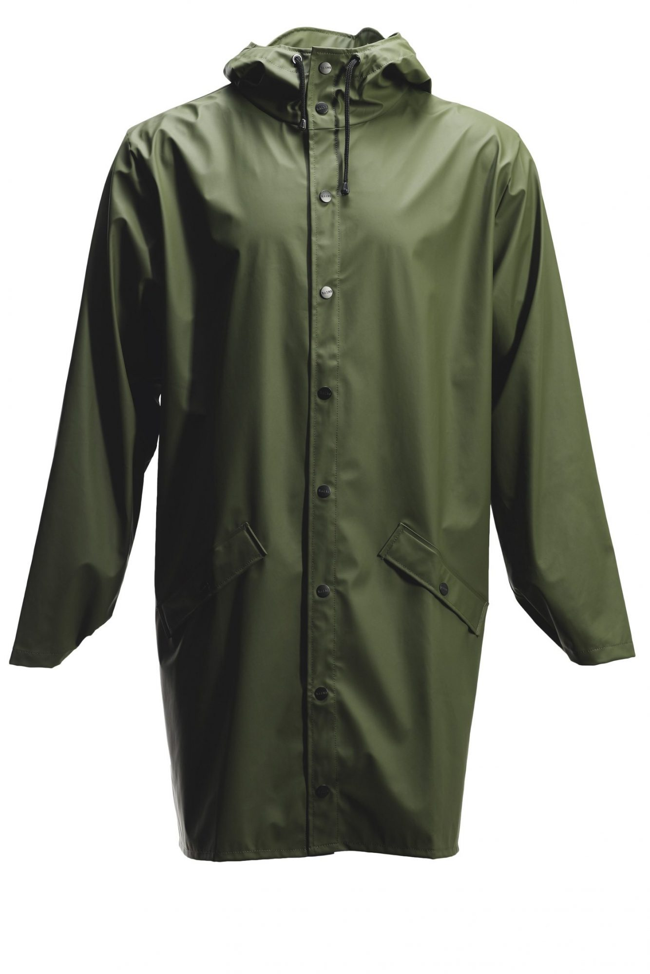 Rains-Denmark-Long-Raincoat-Green