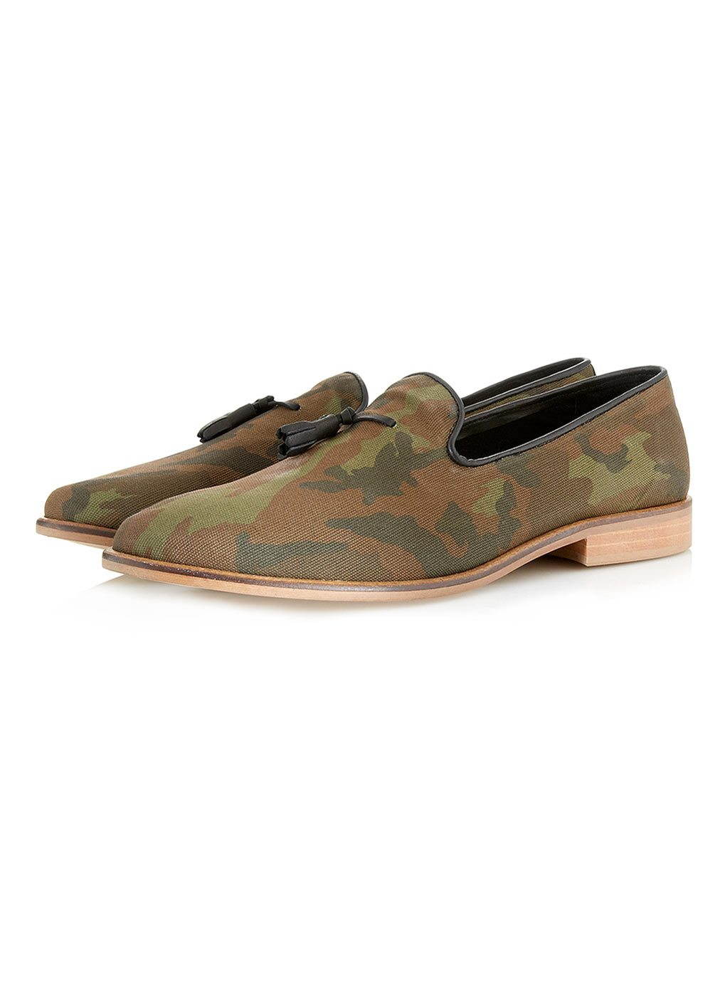 Mens Camouflage Slip On Shoes