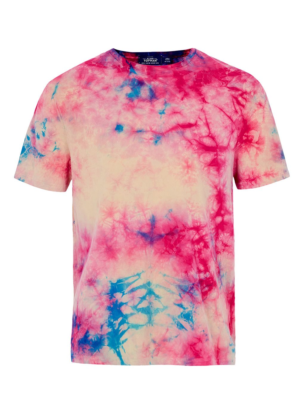Topman-Tie-Dye-T-shirt-Pink-Blue