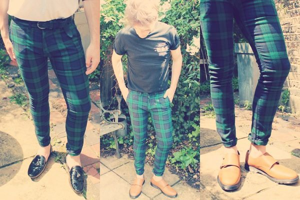 Topman_Lookbook_Haul_The-Utter-Gutter_green_Tartan_Plaid_chino_trousers_pants