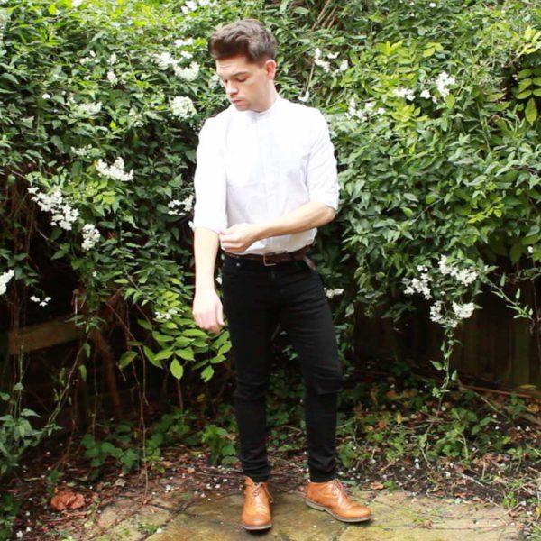 ASOS-Longline-Grandad-Collar-Shirt-Frank-Wright-Boots