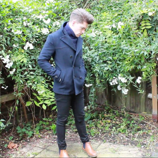 Topman-Navy-Cable-Knit-Roll-Neck-Pea-Coat-Cheap-Monday-Skinny-Jeans-Chelsea-Boots
