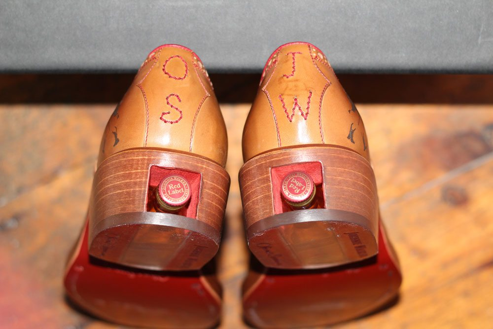 Oliver Sweeney X Johnnie Walker Whiskey Heeled Brogues