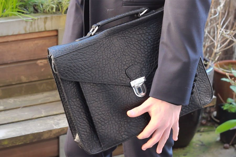Wedding-Formal-Wear-Robin-James-The-Utter-Gutter-Black-Satchel