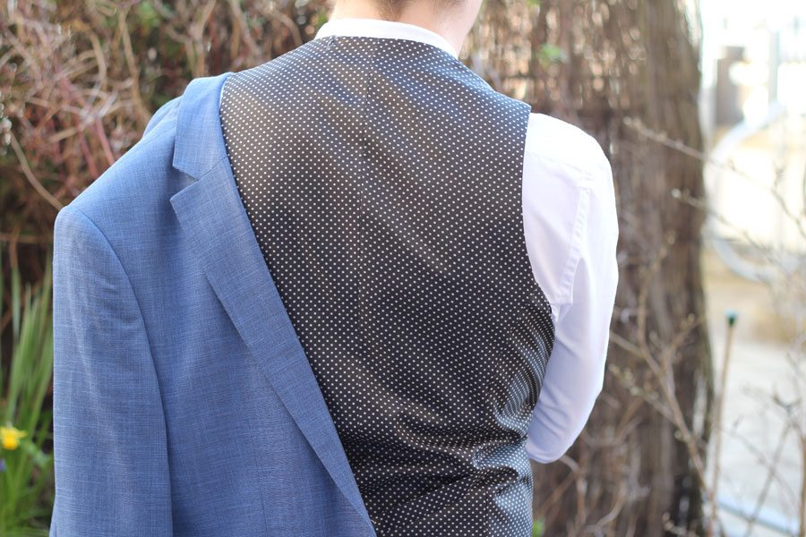 Wedding-Formal-Wear-Robin-James-The-Utter-Gutter-Blue-Skinny-Fit-Suit-Waistcoat-Polka-Dot