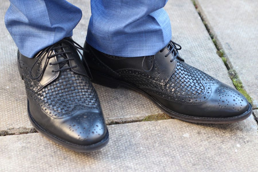 Wedding-Formal-Wear-Robin-James-The-Utter-Gutter-Woven-Leather-Shoes