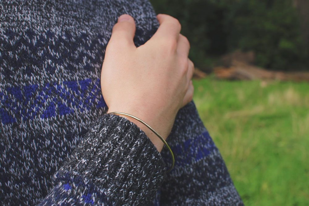 Selected-Homme-Jacquard-Jumper-Topman-Gold-Bracelet