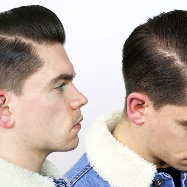 Side Part Pomp | Using Water Based Pomade