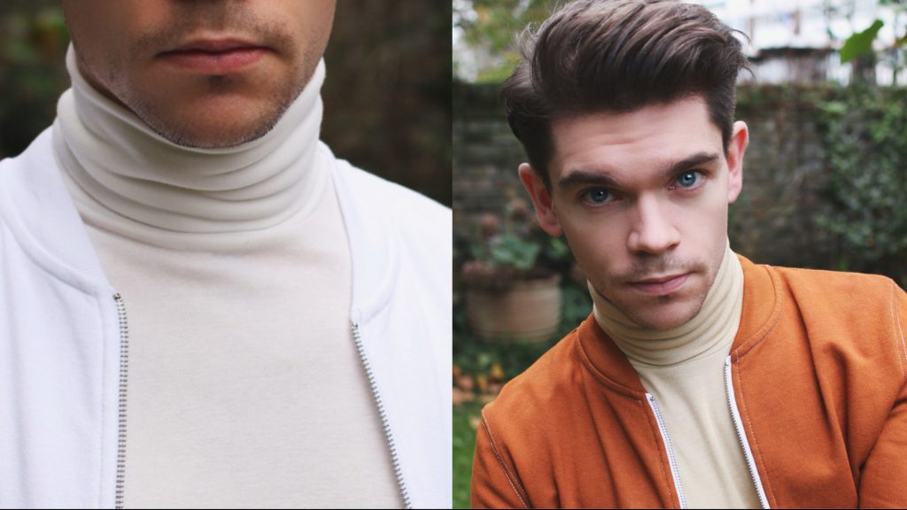 Mens-White-Rollneck-Dye-Orange-Robin-James-Man-For-Himself