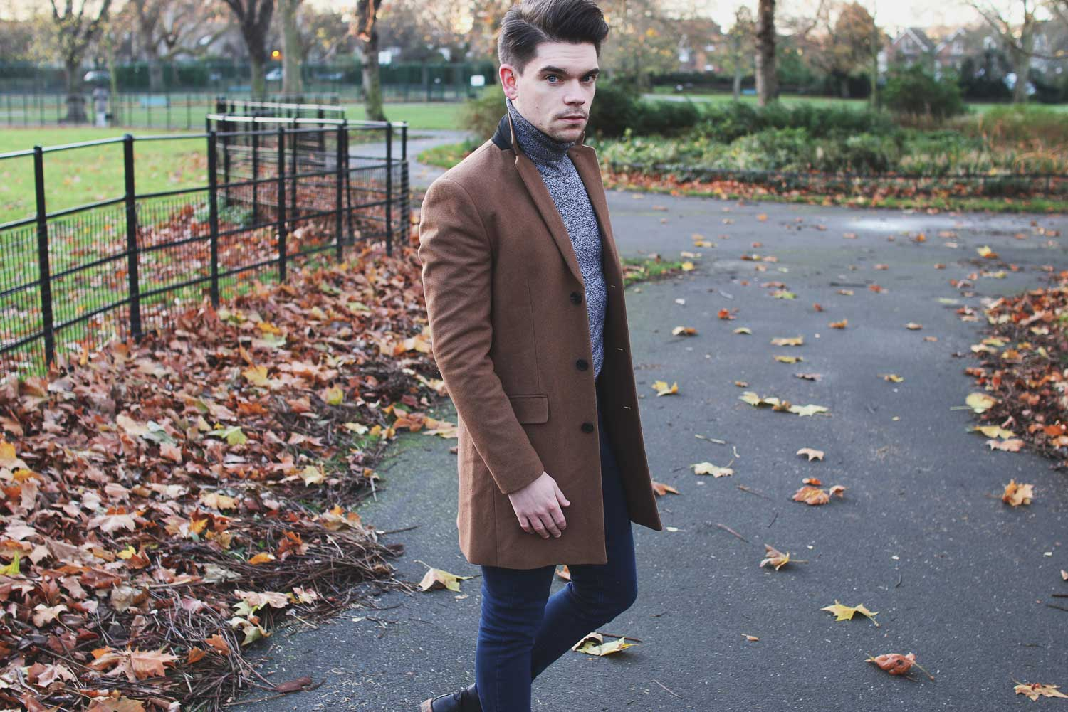 New-Look-Overcoat-Camel-Robin-James-Man-For-Himself