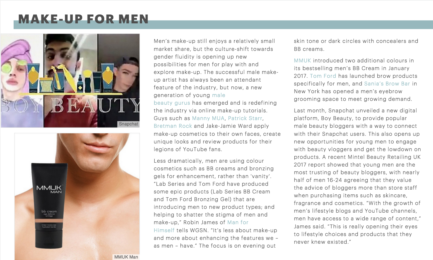 WGSN - Trend Forecasting - Male Grooming