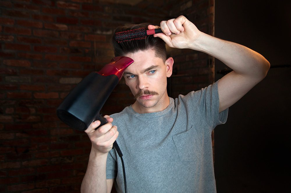 Build volume using a hair dryer and brush