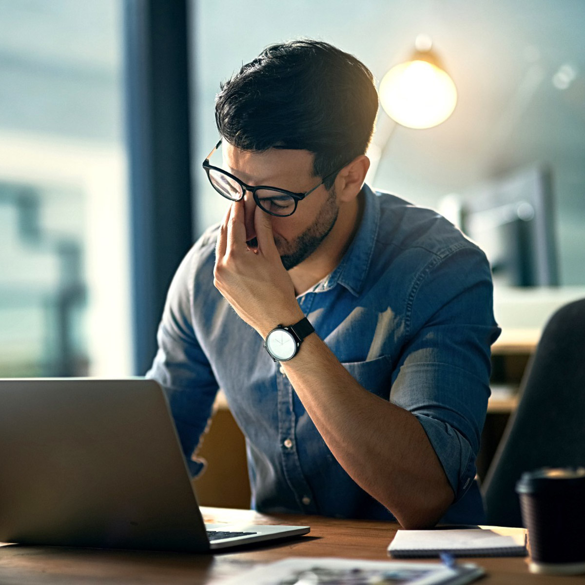 causes-of-burnout-stress-man-for-himself