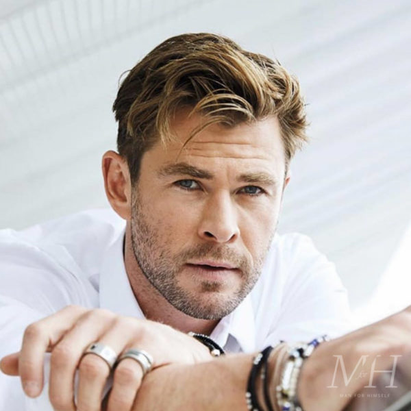 Chris Hemsworth: Widow's Peak Hairstyle