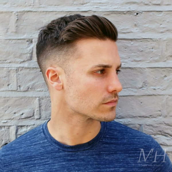 mens-hairstyle-haircut-short-fade-textured-sweep-back-MFH7-man-for-himself