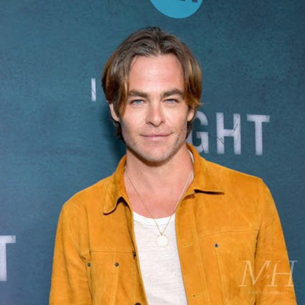 Chris Pine: Long Hair With Centre Part