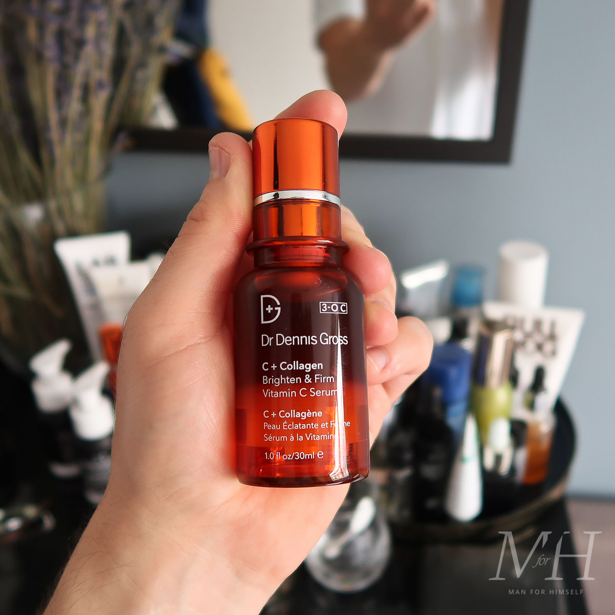 dr-dennis-gross-collagen-brighten-firm-vitaminc-serum-skincare-product-review-man-for-himself
