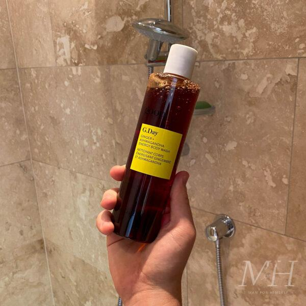 Goop G.Day Ginger + Ashwagandha Energy Body Wash Review Man For Himself-1