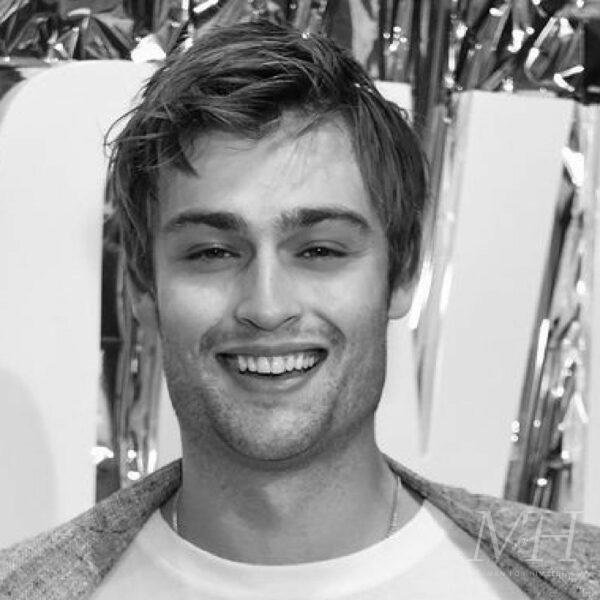 Douglas Booth: Straight Side Parted Hairstyle