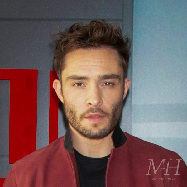 ed westwick short textured hairstyle