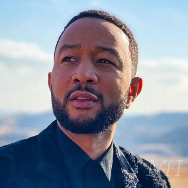 john legend tapered cut afro hairstyle
