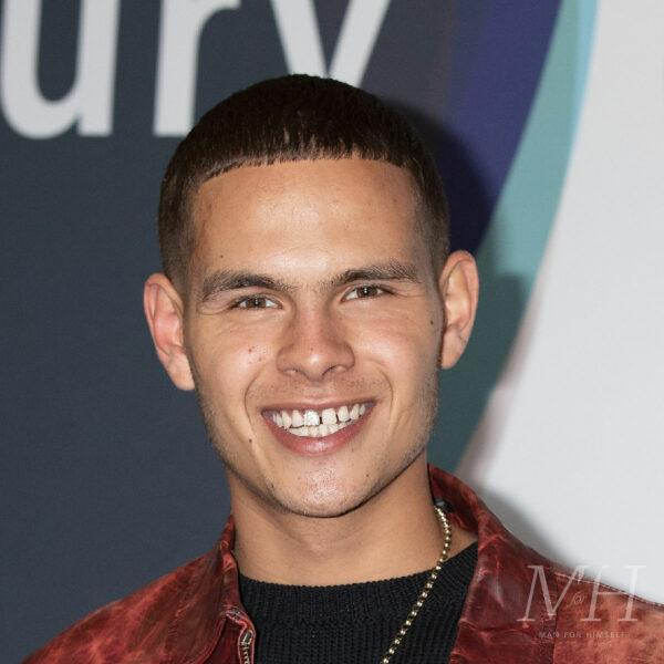 Slowthai: Short Fade Hairstyle With A Square Fringe