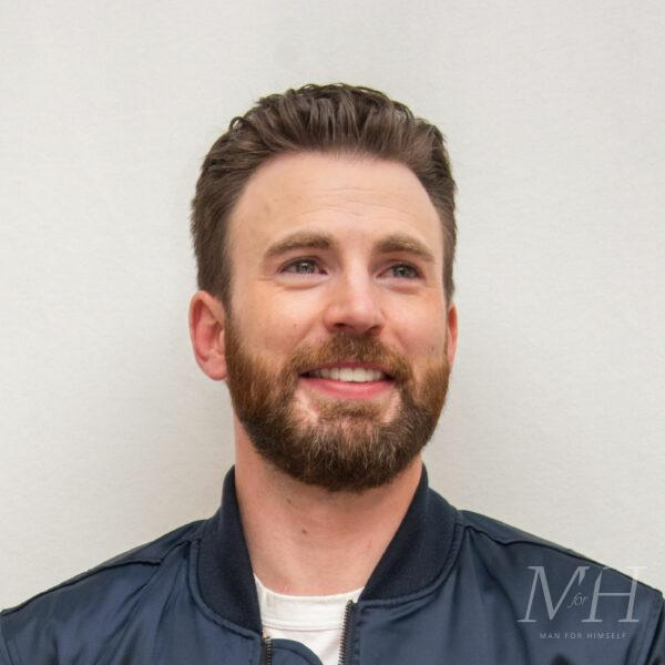Chris Evans: Pompadour Hairstyle With Beard