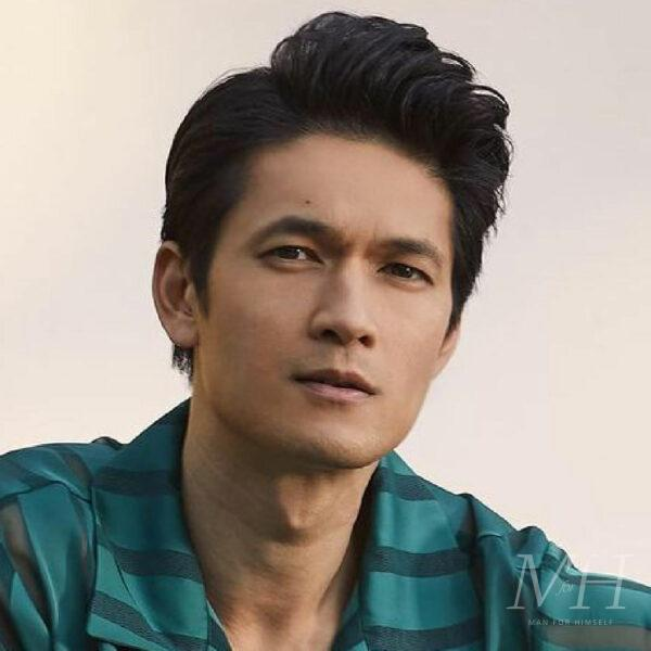 Harry Shum Jr: Medium Length Quiff Hairstyle With Side Parting