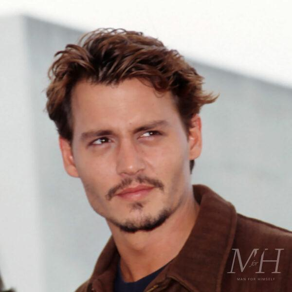 johnny depp 90s taper hairstyle