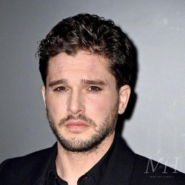 kit harrington classic curly taper hairstyle