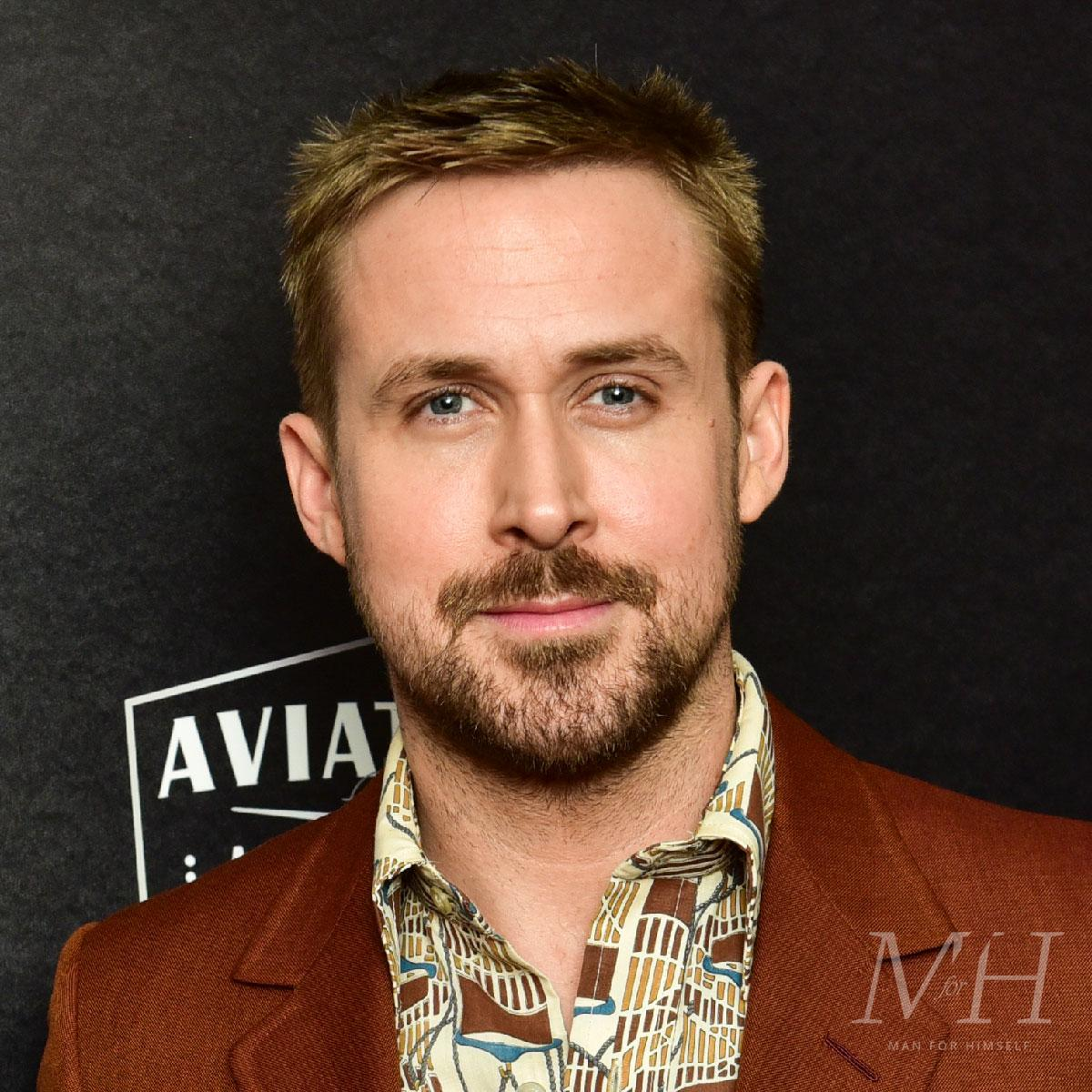 ryan gosling tapered fade a list men's hairstyles