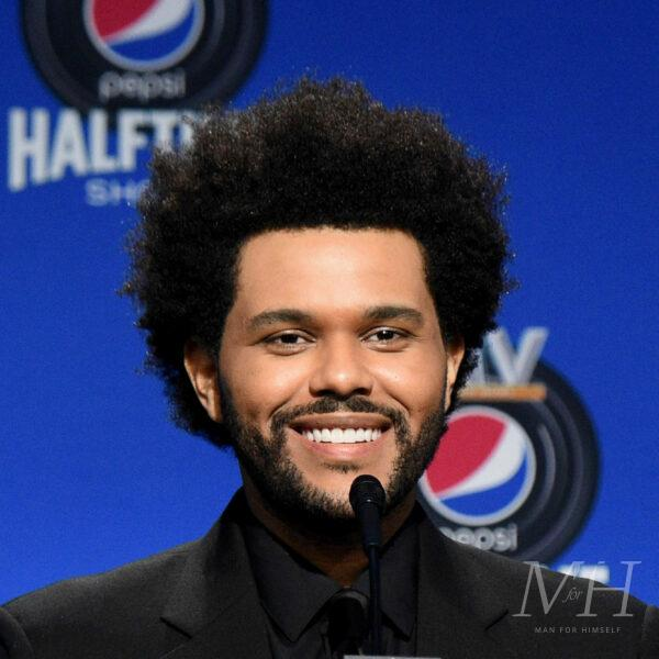 the-weeknd-natural-shaped-afro-hairstyle