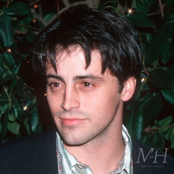 'Joey Tribbiani': Medium Length 90s Curtains Hairstyle