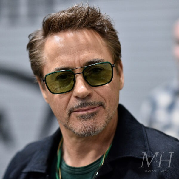 Robert Downey Jr: Taper With Small Quiff Hairstyle