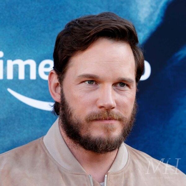 Chris Pratt: Medium Length Wavy Side Parted Haircut
