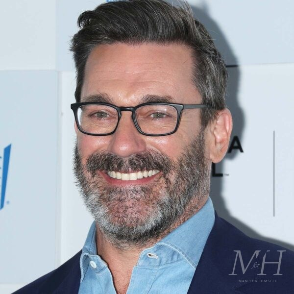 Jon Hamm: Quiff With Short Back and Sides + Side Parting