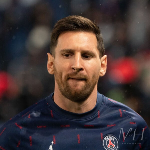Lionel Messi: Quiff With Side Parting And Low Fade